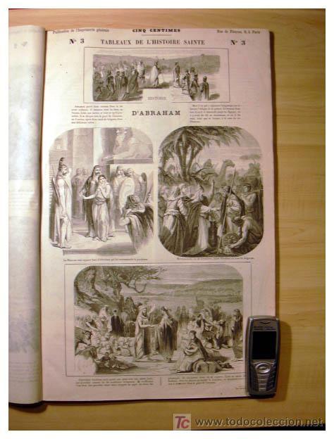 Libros antiguos: EL ANTIGUO Y NUEVO TESTAMENTO EN 100 CUADROS 1880 IMPRESIONANTES DIMENSIONES 52CM X 33CM - Foto 7 - 26947516