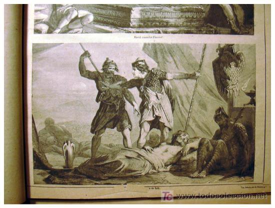 Libros antiguos: EL ANTIGUO Y NUEVO TESTAMENTO EN 100 CUADROS 1880 IMPRESIONANTES DIMENSIONES 52CM X 33CM - Foto 19 - 26947516