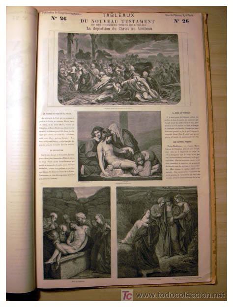 Libros antiguos: EL ANTIGUO Y NUEVO TESTAMENTO EN 100 CUADROS 1880 IMPRESIONANTES DIMENSIONES 52CM X 33CM - Foto 21 - 26947516