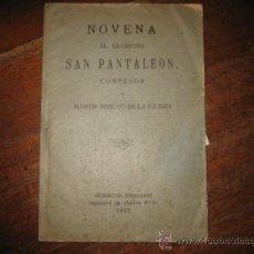 Libros antiguos: NOVENA AL GLORIOSO SAN PANTALEON. Lote 57619598
