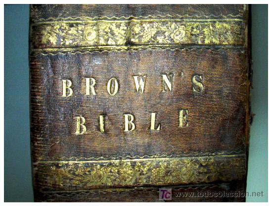 Libros antiguos: LIBRE INTERPRETACION DE LA BIBLIA DE JOHN BROWN 1812 - GRABADOS A TODA PAG - 43,5cm x 29cm x 10,5cm - Foto 2 - 26698240