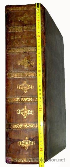 Libros antiguos: LIBRE INTERPRETACION DE LA BIBLIA DE JOHN BROWN 1812 - GRABADOS A TODA PAG - 43,5cm x 29cm x 10,5cm - Foto 5 - 26698240