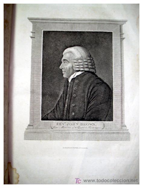 Libros antiguos: LIBRE INTERPRETACION DE LA BIBLIA DE JOHN BROWN 1812 - GRABADOS A TODA PAG - 43,5cm x 29cm x 10,5cm - Foto 7 - 26698240
