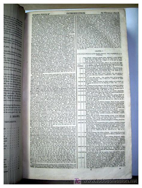 Libros antiguos: LIBRE INTERPRETACION DE LA BIBLIA DE JOHN BROWN 1812 - GRABADOS A TODA PAG - 43,5cm x 29cm x 10,5cm - Foto 8 - 26698240