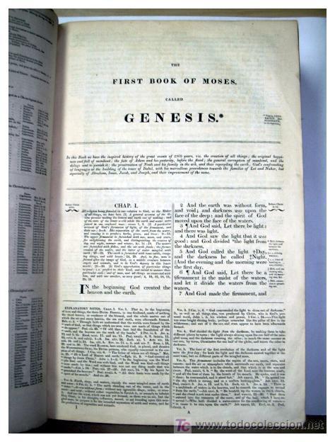 Libros antiguos: LIBRE INTERPRETACION DE LA BIBLIA DE JOHN BROWN 1812 - GRABADOS A TODA PAG - 43,5cm x 29cm x 10,5cm - Foto 9 - 26698240