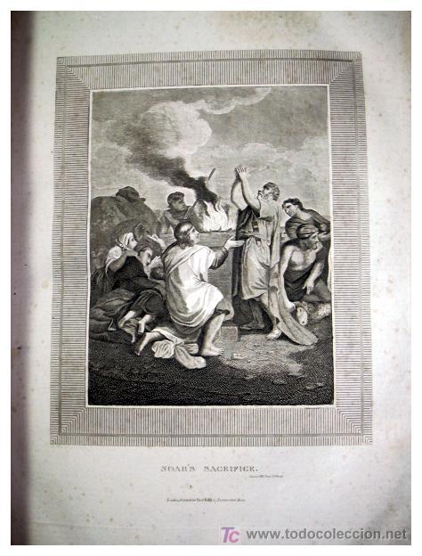 Libros antiguos: LIBRE INTERPRETACION DE LA BIBLIA DE JOHN BROWN 1812 - GRABADOS A TODA PAG - 43,5cm x 29cm x 10,5cm - Foto 10 - 26698240