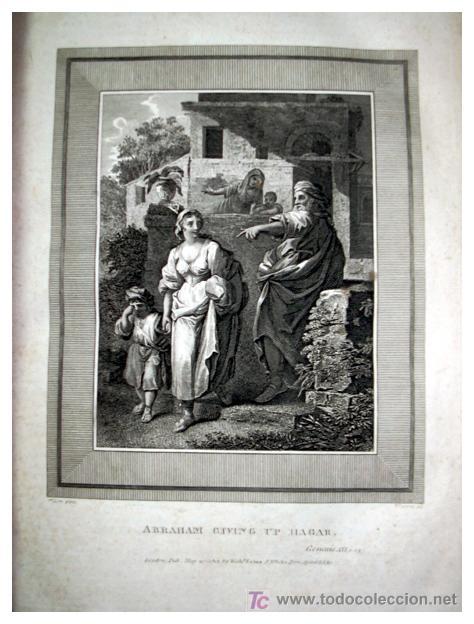 Libros antiguos: LIBRE INTERPRETACION DE LA BIBLIA DE JOHN BROWN 1812 - GRABADOS A TODA PAG - 43,5cm x 29cm x 10,5cm - Foto 11 - 26698240