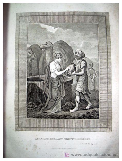 Libros antiguos: LIBRE INTERPRETACION DE LA BIBLIA DE JOHN BROWN 1812 - GRABADOS A TODA PAG - 43,5cm x 29cm x 10,5cm - Foto 12 - 26698240