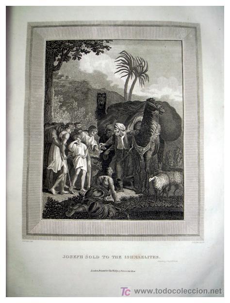 Libros antiguos: LIBRE INTERPRETACION DE LA BIBLIA DE JOHN BROWN 1812 - GRABADOS A TODA PAG - 43,5cm x 29cm x 10,5cm - Foto 13 - 26698240