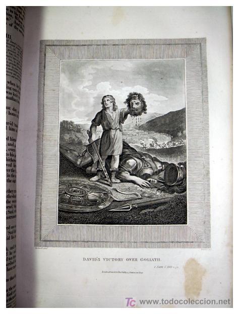 Libros antiguos: LIBRE INTERPRETACION DE LA BIBLIA DE JOHN BROWN 1812 - GRABADOS A TODA PAG - 43,5cm x 29cm x 10,5cm - Foto 15 - 26698240