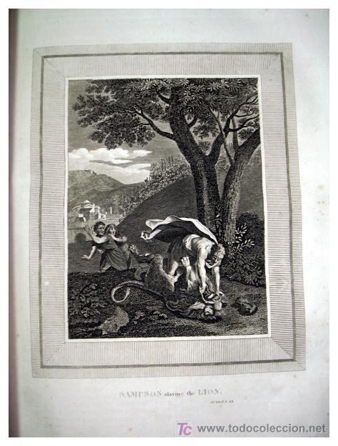 Libros antiguos: LIBRE INTERPRETACION DE LA BIBLIA DE JOHN BROWN 1812 - GRABADOS A TODA PAG - 43,5cm x 29cm x 10,5cm - Foto 16 - 26698240