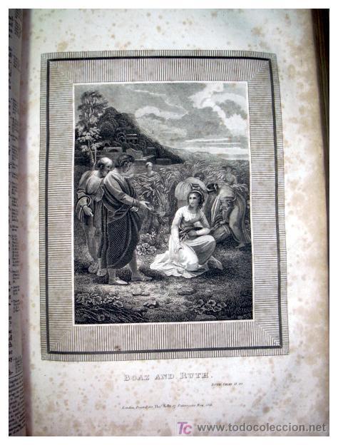 Libros antiguos: LIBRE INTERPRETACION DE LA BIBLIA DE JOHN BROWN 1812 - GRABADOS A TODA PAG - 43,5cm x 29cm x 10,5cm - Foto 17 - 26698240