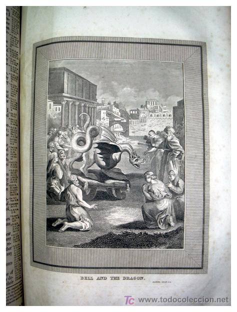 Libros antiguos: LIBRE INTERPRETACION DE LA BIBLIA DE JOHN BROWN 1812 - GRABADOS A TODA PAG - 43,5cm x 29cm x 10,5cm - Foto 18 - 26698240