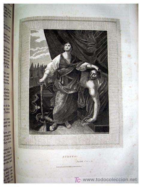 Libros antiguos: LIBRE INTERPRETACION DE LA BIBLIA DE JOHN BROWN 1812 - GRABADOS A TODA PAG - 43,5cm x 29cm x 10,5cm - Foto 19 - 26698240