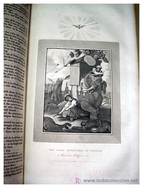 Libros antiguos: LIBRE INTERPRETACION DE LA BIBLIA DE JOHN BROWN 1812 - GRABADOS A TODA PAG - 43,5cm x 29cm x 10,5cm - Foto 20 - 26698240