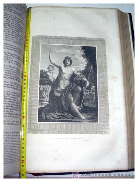Libros antiguos: LIBRE INTERPRETACION DE LA BIBLIA DE JOHN BROWN 1812 - GRABADOS A TODA PAG - 43,5cm x 29cm x 10,5cm - Foto 21 - 26698240
