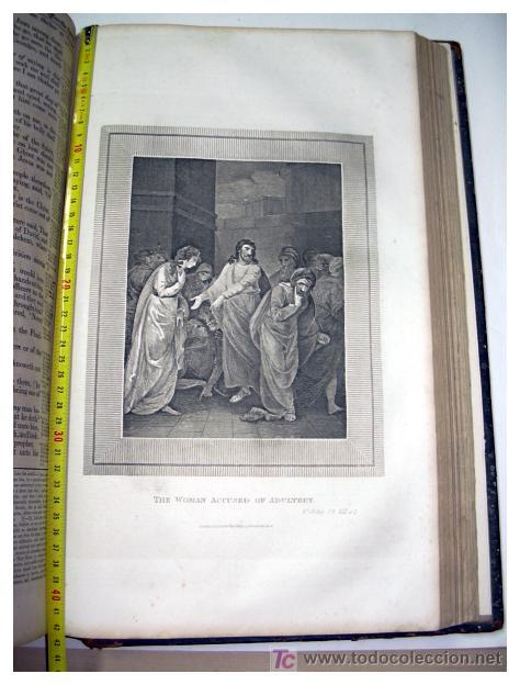 Libros antiguos: LIBRE INTERPRETACION DE LA BIBLIA DE JOHN BROWN 1812 - GRABADOS A TODA PAG - 43,5cm x 29cm x 10,5cm - Foto 22 - 26698240