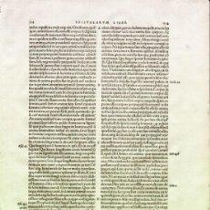 Libros antiguos: 1541 BASILEA, INTERESANTE HOJA DE LA OBRA AUGUSTINUS OPERUM, DE SAN AGUSTIN. Lote 23310143