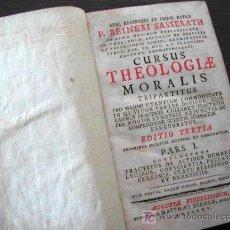 Libros antiguos: 1765 AUGSBURGO, EJEMPLAR DE THEOLOGIA MORALIS, REINERI SASSERATH, 560 PÁG., PIEL. Lote 21312941