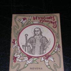 Libros antiguos: NOVENA DE SAN LORENZO , DEVOCIONES ESCOGIDAS , S.CALLEJA , MADRID. Lote 12981142