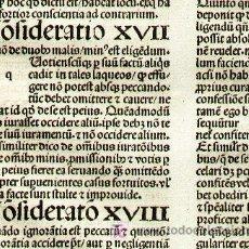 Libros antiguos: 1488 ESTRASBURGO, HOJA INCUNABLE DEL FAMOSO TEÓLOGO JEAN DE CHARLIER DE GERSON. Lote 24457329