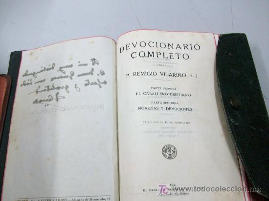 Libros antiguos: DEVOCIONARIO COMPLETO - 1930 - Foto 2 - 13946821
