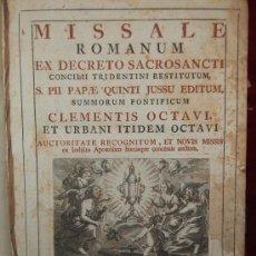 Libros antiguos: MISSALE ROMANUM. POR JOAQUIN IBARRA. 1772.. Lote 26312819