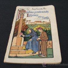 Libros antiguos: PSALMS PENITENCIALS - LLETANIES DELS SANTS. Lote 23569393