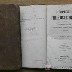 Libros antiguos: COMPENDIUM THEOLOGIAE MORALIS. GURY (JOANNE PETRO). Lote 15921258