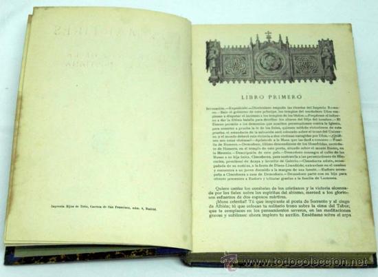 Libros antiguos: Los mártires ó triunfo de la religión cristiana Chateaubriand Ed Saturnino Calleja - Foto 2 - 222738243