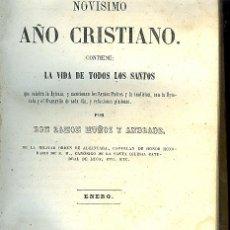 Libros antiguos: NOVÍSIMO AÑO CRISTIANO SANTORAL MES ENERO. EDITADO 1856 SAN ANTONIO ABAD , SAN PABLO .... Lote 26632010
