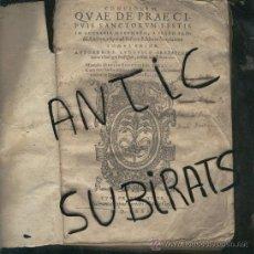 Libros antiguos: LIBRO ANTIGUO SALAMANCA AÑO 1581 FRAY LUIS DE GRANDA QUAE DE PRAE CIPUIS SANCTORUM FESTIS REGALO. Lote 24526533