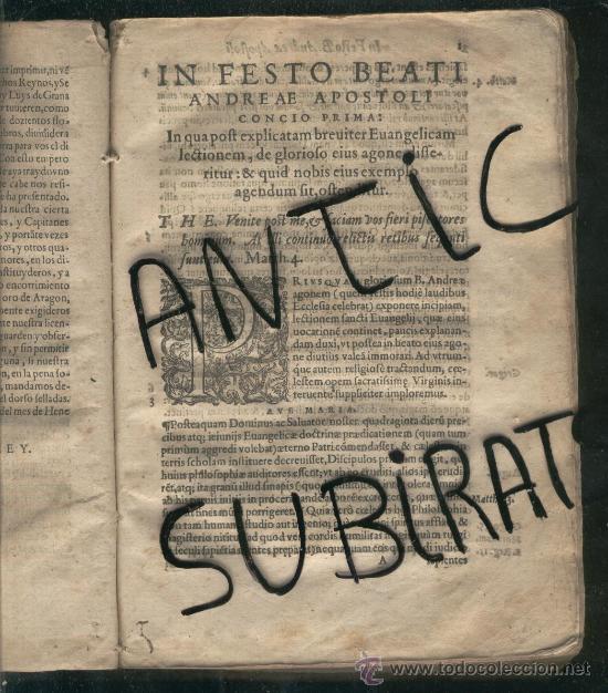 Libros antiguos: LIBRO ANTIGUO SALAMANCA AÑO 1581 FRAY LUIS DE GRANDA QUAE DE PRAE CIPUIS SANCTORUM FESTIS REGALO - Foto 3 - 24526533