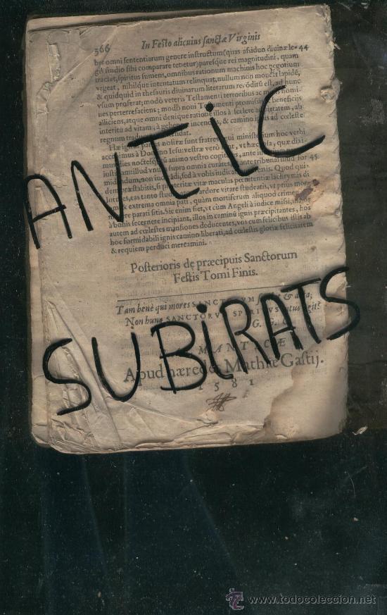 Libros antiguos: LIBRO ANTIGUO SALAMANCA AÑO 1581 FRAY LUIS DE GRANDA QUAE DE PRAE CIPUIS SANCTORUM FESTIS REGALO - Foto 5 - 24526533