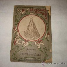 Libros antiguos: NOVENA NTRA SRA DEL VALLE 1899 EDIT.CALLEJA MADRID. Lote 26442629