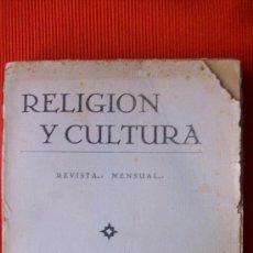 Libros antiguos: RELIGION Y CULTURA. Lote 17993312