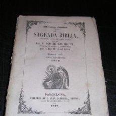 Libros antiguos: LA SAGRADA BIBLIA,-4 TOMOS,TRADUCIDA DE LA VULGATA LATINA POR P.SCIO DE SAN MIGUEL-1846-1847,BARCELO. Lote 20767263