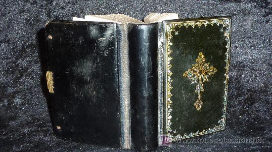 DEVOCIONARIO DEL CRISTIANO. MANUAL POR BERNARDO DE LA CRUZ. 1872. HERMANOS LLORENS. (Libros Antiguos, Raros y Curiosos - Religión)