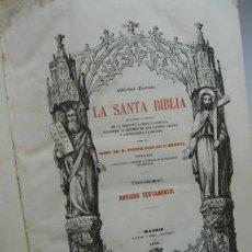 Libros antiguos: LA SANTA BIBLIA TOMO I. EXMO.SR. D. FELIPE SCIO DE S. MIGUEL, ANTIGUO TESTAMENTO. MADRID 1852.. Lote 20077283