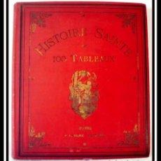Libros antiguos: HISTORIA SANTA EN 100 CUADROS , S. XIX GRAN TAMAÑO - OBRA COMPLETA. Lote 26633130