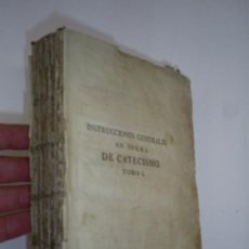 Libros antiguos: INSTRUCCIONES GENERALES EN FORMA DE CATECISMO TOMO I FRANCISCO AMADO POUGET AÑO 1785 RM39509-V. Lote 26783954