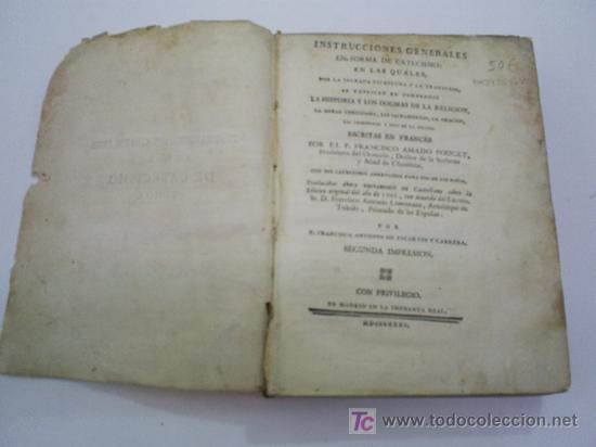 Libros antiguos: Instrucciones Generales en forma de Catecismo Tomo I FRANCISCO AMADO POUGET Año 1785 RM39509-V - Foto 3 - 26783954