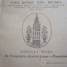 Libros antiguos: ANTIGUO LIBRO RELIGIOSO AÑO 1902. Lote 26927939
