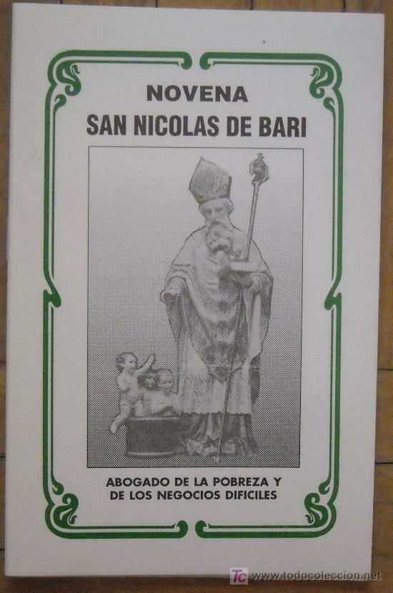 NOVENA SAN NICOLÁS DE BARI-ABOGADO DE POBREZA+CAUSAS DIFÍCILES-15X10CM-24 PAG-EDICIÓN MUY LIMITADA- (Libros Antiguos, Raros y Curiosos - Religión)