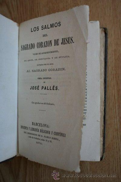 LOS SALMOS DEL SAGRADO CORAZÓN DE JESÚS, VOCESDE ARREPENTIMIENTO, DE AMOR, DE CONFIANZA Y... (Libros Antiguos, Raros y Curiosos - Religión)