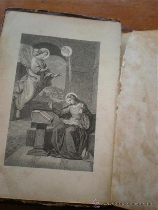 Libros antiguos: misa antiguo de pasta tallada una virgen con el niño - Foto 5 - 23040205