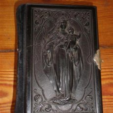 Libros antiguos: MISAL CON PASTA TALLADA LA VIRGEN CON EL NIÑO. Lote 23040389