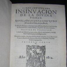 Libros antiguos: 1614 - SANTA GERTRUDIS - LIBRO DE LA DIVINA PIEDAD - FRAY LEANDRO DE GRANADA. Lote 26111553