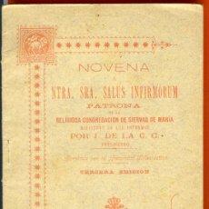 Libros antiguos: NOVENA. NTRA. SRA. SALUS INFIRMORUM. 1901. 48 PÁG. 15 X 10 CM.. Lote 26576988