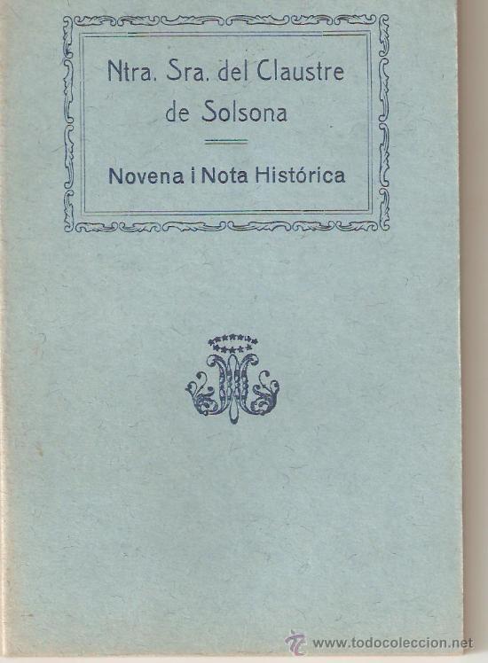 NTRA. SRA. DEL CLAUSTRE DE SOLSONA (Libros Antiguos, Raros y Curiosos - Religión)